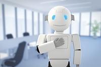 会議室に立つロボット CG