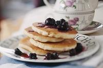 パンケーキ ブルーベリー添え