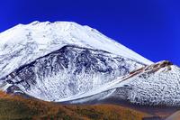 静岡県 水ヶ塚公園より富士山と宝永火口 紅葉