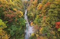 秋田県 小安峡の紅葉と大噴湯