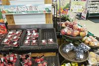 産地直送の果物・野菜が陳列された売場