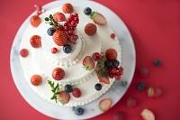 ベリーの三段ケーキ