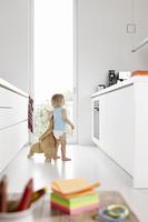キッチンにいる子供
