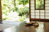 お茶と三色団子 日本の夏