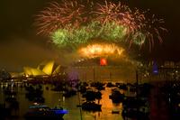 オーストラリア シドニー 大晦日の花火