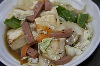 沖縄県 由布島 豆腐と野菜のチャンプル