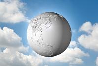 立体感のある白い地球
