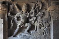 インド エローラ石窟群 第29窟 ドゥマル・レナ窟 ヒンドゥ教...