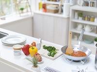 調理中のキッチンイメージ