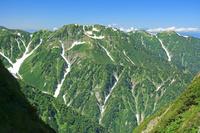 富山県 剣岳早月尾根から奥大日岳(中央)
