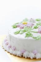 お花のデコレーションケーキ