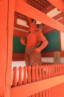 京都府 光明寺 国宝二王門と仁王像(吽形金剛力士像)