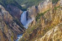 アメリカ合衆国 イエローストーン大渓谷のロウアー滝