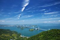 愛媛県 亀老山展望公園よりしまなみ海道と瀬戸内海