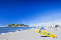 神奈川県 江の島と片瀬海岸東浜海水浴場