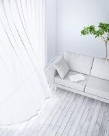 リビングルームに置かれたソファー CG