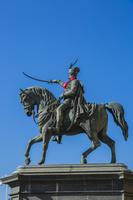 クロアチア ザグレブ イェラチッチ総督の騎馬像