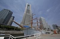 神奈川県 帆船日本丸とランドマークタワー