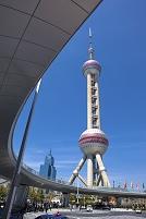 中国 上海 東方明珠テレビタワー