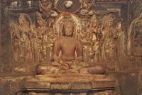 インド エローラ石窟群 第32窟 ジャイナ教窟 内部(2階)