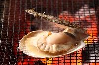 北海道 ホタテの炭焼き