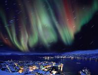 ノルウェー オーロラ舞う冬のハンメルフェスト