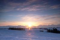 北海道 美瑛の丘と夕照