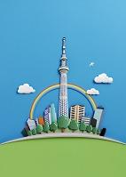 ペーパークラフト 東京スカイツリー