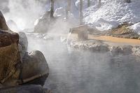 岐阜県 湯けむりの露天風呂