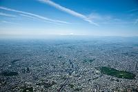 渋谷周辺より富士山方面(高度2,500mより撮影)