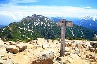 長野・富山県境 唐松岳頂上
