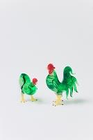 ガラス細工鶏