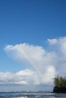 ハワイ カウアイ島 ハナレイ湾と虹