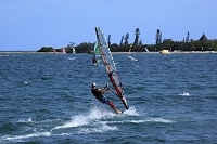 ニューカレドニアの風景 ヌメア ウィンドサーフィン