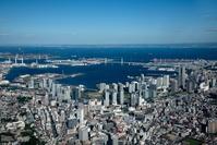 神奈川県 横浜駅とみなとみらい、横浜港、東京湾