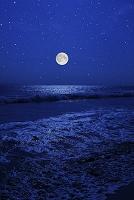 千葉県 九十九里 満月 星空
