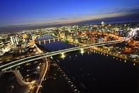 新潟県 信濃川 夜景
