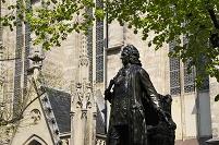 ドイツ ライプツィヒ バッハの彫像