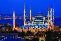 トルコ イスタンブール ブルーモスク/夜景