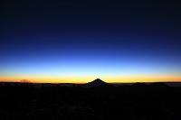 静岡県 富士見平 未明の富士山