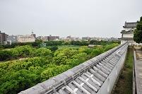 兵庫県 明石城坤櫓と明石市街