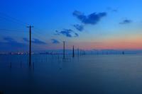 千葉県 夕暮れの久津間海岸