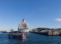 横浜港に碇泊する飛鳥Ⅱ