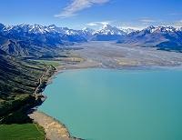 ニュージーランド プカキ湖とクック山