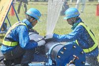 防災訓練 ‐ 水道管の応急復旧訓練