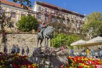 クロアチア ザグレブ 聖ゲオルギーの騎馬像