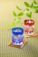 江戸切子に入った日本酒