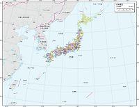 日本周辺 行政区分図