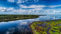 湿原の空撮