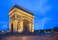 フランス パリ エトワール凱旋門 夕景